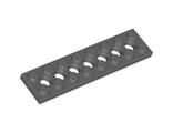 Technic, Plate 2 x 8 with 7 Holes, Dark Bluish Gray (3738 / 4260707)