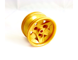 Wheel 43.2mm D. x 26mm Technic Racing Small, 3 Pin Holes, Pearl Gold (41896 / 4297499)