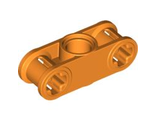 Technic, Axle and Pin Connector Perpendicular 3L with Center Pin Hole, Orange (32184 / 4154523 / 4249017)