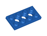 Technic, Plate 2 x 4 with 3 Holes, Blue (3709b / 370923)