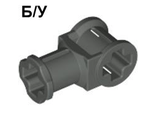 ! Б/У - Technic, Axle Connector with Axle Hole, Dark Gray (32039 / 4141420) - Б/У