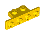 Bracket 1 x 2 - 1 x 4 with Rounded Corners, Yellow (2436b / 6076799)