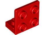 Bracket 1 x 2 - 2 x 2 Inverted, Red (99207 / 6001806)