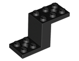 Bracket 5 x 2 x 2 1/3 with 2 Holes and Bottom Stud Holder, Black (76766 / 6012983 / 6171066)