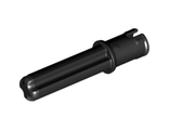 Technic, Axle Pin 3L with Friction Ridges Lengthwise and 2L Axle, Black (18651 / 6089119)