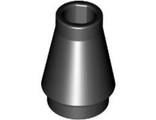 Cone 1 x 1 with Top Groove, Black (4589b / 4518219 / 4529236 / 458926)