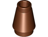 Cone 1 x 1 with Top Groove, Reddish Brown (4589b / 4529242)