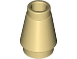 Cone 1 x 1 with Top Groove, Tan (4589b / 4529237)