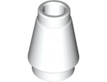 Cone 1 x 1 with Top Groove, White (4589b / 4518400)