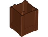 Container, Box 2 x 2 x 2 - Top Opening, Reddish Brown (61780 / 4520638)