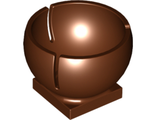 Cylinder Hemisphere 3 x 3 Ball Turret Socket with 2 x 2 Base, Reddish Brown (44358 / 4504277)