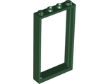 Door, Frame 1 x 4 x 6 with Two Holes on Top and Bottom, Dark Green (60596 / 6003061 / 6219674 / 6262972)