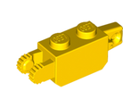 Hinge Brick 1 x 2 Locking with 1 Finger Vertical End and 2 Fingers Vertical End, Yellow (30386 / 4140704)