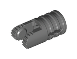 Hinge Cylinder 1 x 2 Locking with 2 Fingers, 9 Teeth and Axle Hole on Ends with Slots, Dark Bluish Gray (30553 / 4210695)