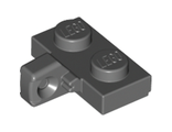 Hinge Plate 1 x 2 Locking with 1 Finger on Side undetermined type, Dark Bluish Gray (44567)