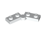 Hinge Plate 1 x 4 Swivel Top / Base Complete Assembly, White (2429c01 / 4287153 / 6102776 / 74010)