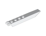 Hinge Plate 1 x 8 with Angled Side Extensions, Rounded Plate Underside, White (30407 / 4169044 / 4650588)