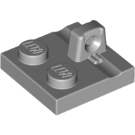 Hinge Plate 2 x 2 Locking with 1 Finger on Top, Light Bluish Gray (92582 / 4666449)