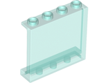 Panel 1 x 4 x 3 with Side Supports - Hollow Studs, Trans-Light Blue (60581 / 4594685 / 6245267)