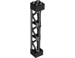 Support 2 x 2 x 10 Girder Triangular Vertical - Type 4 - 3 Posts, 3 Sections, Black (95347 / 4667463)