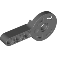 Technic Rotation Joint Disk with Pin Hole and 3L Liftarm Thick, Dark Bluish Gray (44224 / 4182751)