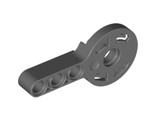 Technic, Rotation Joint Disk with Pin Hole and 3L Liftarm Thick, Dark Bluish Gray (44224 / 4182751)