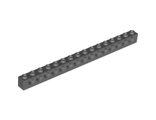 Technic, Brick 1 x 16 with Holes, Dark Bluish Gray (3703 / 4256828)