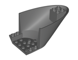 Aircraft Fuselage Curved Aft Section 6 x 10 Bottom, Dark Bluish Gray (87616 / 4569417 / 6025392)
