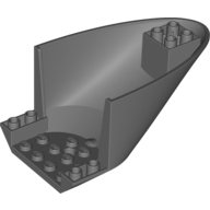 Aircraft Fuselage Aft Section Curved Bottom 6 x 10, Dark Bluish Gray (87616 / 4569417 / 6025392)