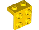 Bracket 1 x 2 - 2 x 2, Yellow (44728 / 4199298 / 4277925 / 4615642 / 6117938)