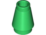 Cone 1 x 1 with Top Groove, Green (4589b / 4529239)