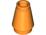 Cone 1 x 1 with Top Groove, Orange (4589b / 4518029)