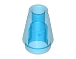 Cone 1 x 1 with Top Groove, Trans-Dark Blue (4589b / 4567331 / 618843)