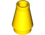 Cone 1 x 1 with Top Groove, Yellow (4589b / 4525464)