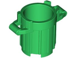 Container, Trash Can with 4 Cover Holders, Green (92926 / 4626650 / 6171069)