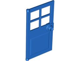 Door 1 x 4 x 6 with 4 Panes and Stud Handle, Blue (60623 / 4626703)