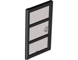 Door 1 x 4 x 6 with 3 Panes and Stud Handle with Trans-Black Glass, Black (60797c02 / 4534267)