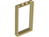 Door, Frame 1 x 4 x 6 with Two Holes on Top and Bottom, Tan (60596 / 4578110 / 6262949)