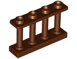 Fence 1 x 4 x 2 Spindled with 4 Studs, Reddish Brown (15332 / 6066114)