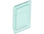 Glass for Train Door with Lip on Top and Bottom, Trans-Light Blue (4183 / 6074032)
