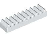 Technic, Gear Rack 1 x 4, White (3743 / 4250465)
