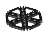 Technic, Plate Rotor 6 Blade with Clip Ends Connected (Water Wheel), Black (64566 / 4539442)