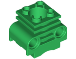 Technic, Engine Cylinder without Side Slots, Green (2850b / 6065495)