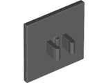 Road Sign Clip-on 2 x 2 Square, Dark Bluish Gray (30258 / 4210701)