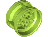 Wheel 43.2mm D. x 26mm Technic Racing Small, 6 Pin Holes, Lime (56908 / 6099539)