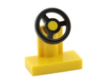 Vehicle, Steering Stand 1 x 2 with Black Steering Wheel, Yellow (3829c01 / 9553)