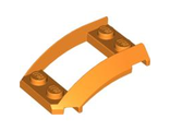Wedge 4 x 3 Open with Cutout and 4 Studs, Orange (47755 / 4500337 / 6063272)