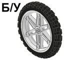 ! Б/У - Wheel 61.6mm D. x 13.6mm Motorcycle, with Black Tire 81.6 x 15 Motorcycle  2903 / 2902 , White (2903c01) - Б/У