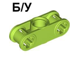 ! Б/У - Technic, Axle and Pin Connector Perpendicular 3L with Center Pin Hole, Lime (32184 / 4154491) - Б/У