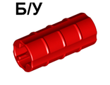 ! Б/У - Technic, Axle Connector 2L Ridged with x Hole x Orientation, Red (6538b / 4125189) - Б/У